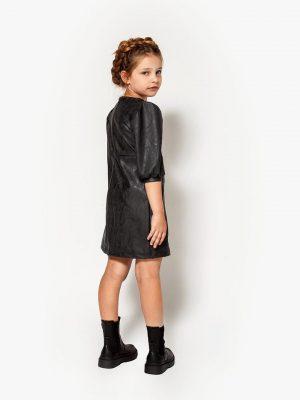 Φόρεμα δερμάτινο γκρι Alice