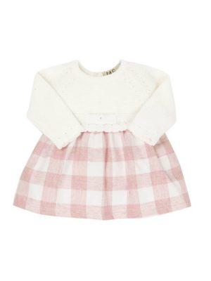 Φόρεμα λευκό-ροζ EMC