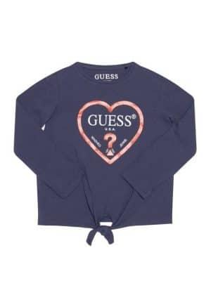 Μπλούζα μπλε με στάμπα Guess