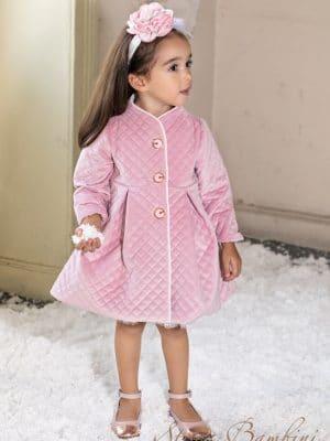 Βαπτιστικό παλτό G7 ροζ Stova Bambini