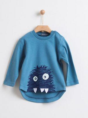Μπλούζα monster μπλε Yelloh για αγόρια