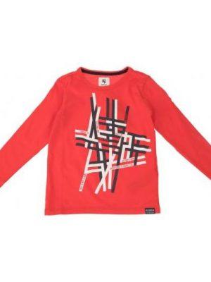 Μπλούζα με στάμπα Garcia σε κόκκινο χρώμα