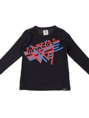 Μπλούζα με στάμπα Garcia σε μαύρο χρώμα
