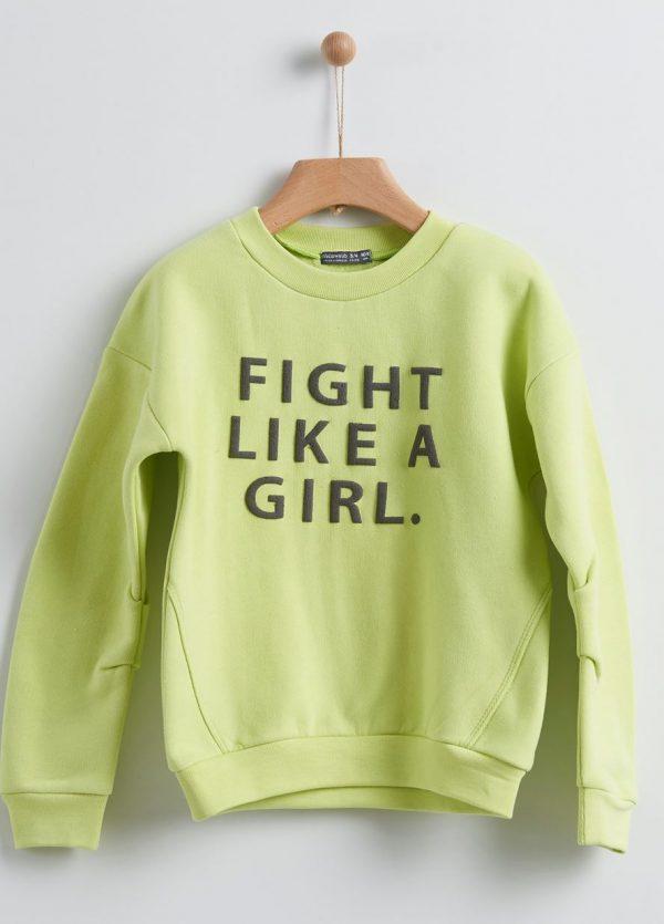 Μπλούζα φούτερ πράσινο Yelloh