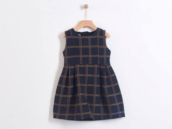 Φόρεμα μπροκάρ καρό Yelloh για κορίτσια