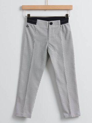 Παντελόνι καρό λευκό-μαύρο Yelloh